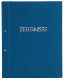 Zeugnismappe Goldbuch blau