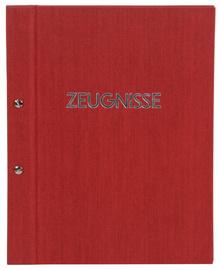 Zeugnismappe Goldbuch rot